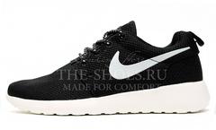 Кроссовки Женские Nike Roshe Run Black White