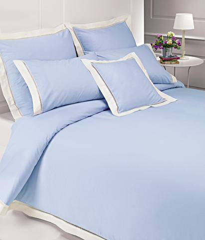 Постельное белье 2 спальное евро Bovi Весенний сад голубое