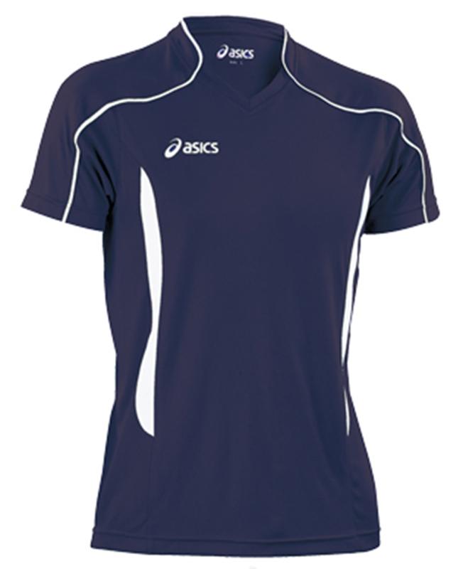 Мужская волейбольная футболка Asics T-shirt Volo (T604Z1 5001) темно-синяя