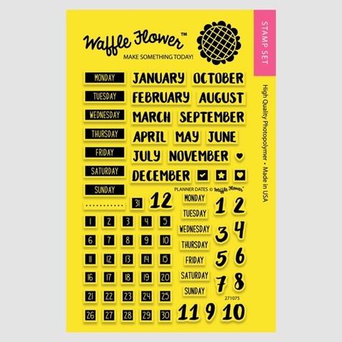 Набор штампов  PLANNER DATES