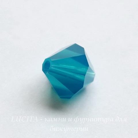 5328 Бусина - биконус Сваровски Caribbean Blue Opal 8 мм ()