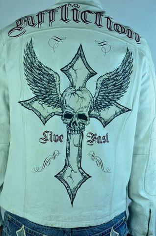 Кожаная куртка от Affliction. Редкая модель