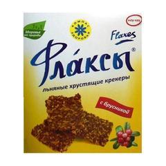 Флаксы льняные крекеры с брусникой, 150 гр. (Компас Здоровья)