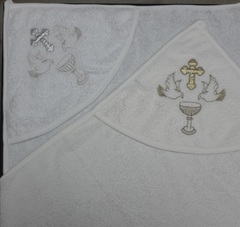 Полотенце для крещения  с капюшоном
