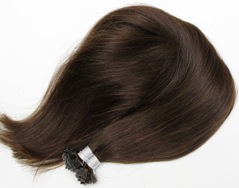 Волосы на плоских кератиновых капсулах,цвет 2( 2 КЛАСС)-50 СМ-100