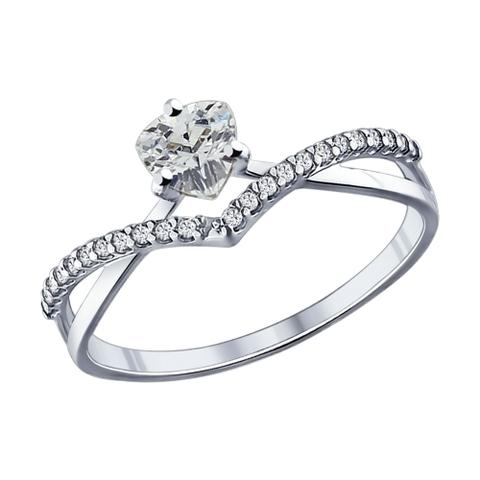 Кольцо из серебра с фианитами арт.94011750