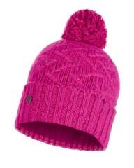 Вязаная шапка с флисовой подкладкой Buff Hat Knitted Polar Ebba Bright Pink
