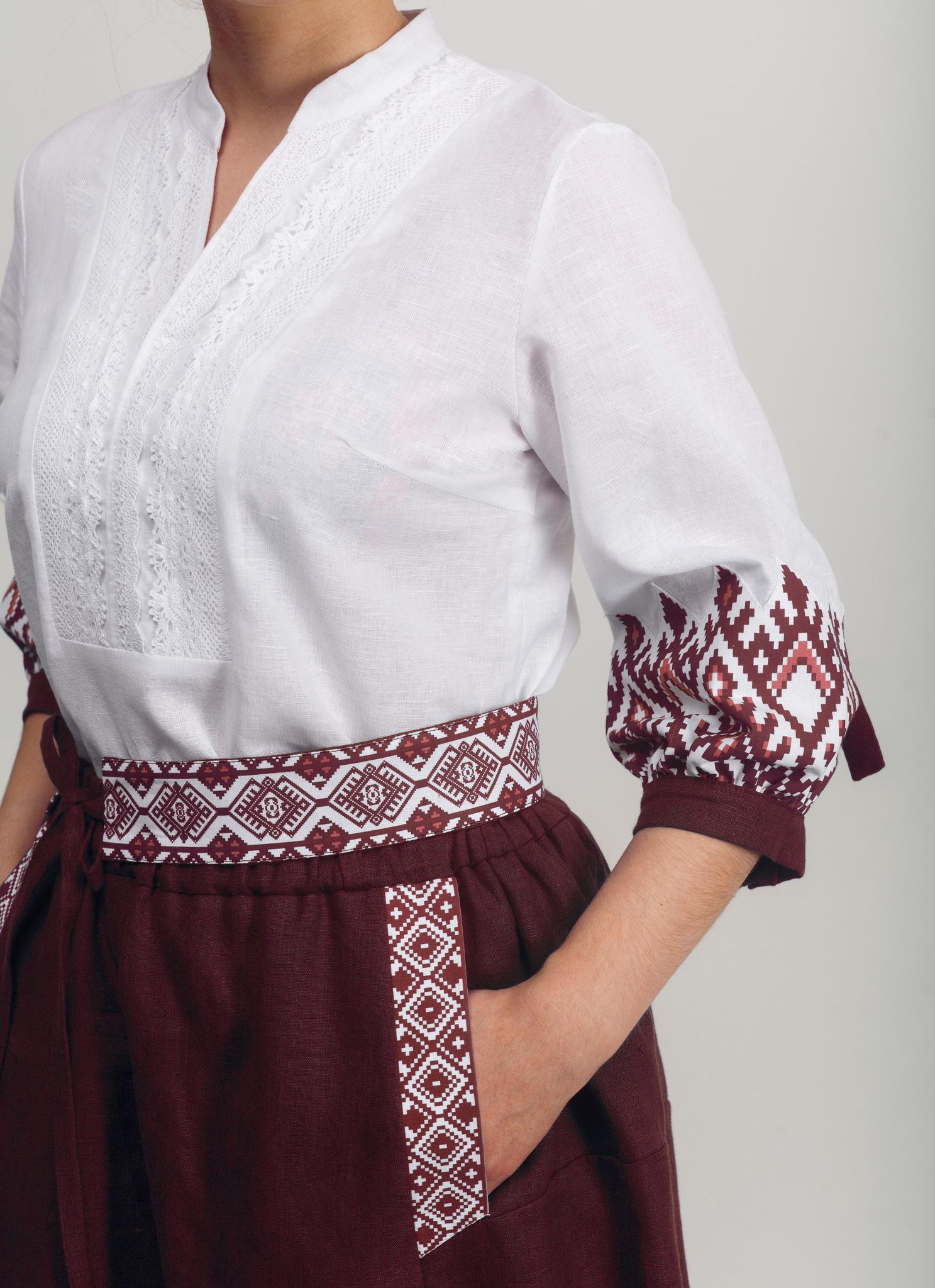 Блуза Родные узоры 02 вид сбоку