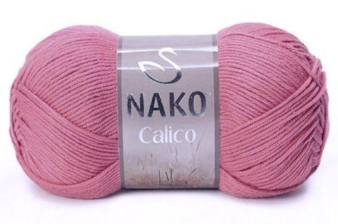 Пряжа Nako Calico сухая роза 11924