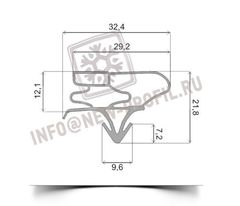 Уплотнитель 97*57 см(по пазу 94,6*54,6 см) для холодильника LG GA-B409 SVQA (холодильная камера) Профиль 003