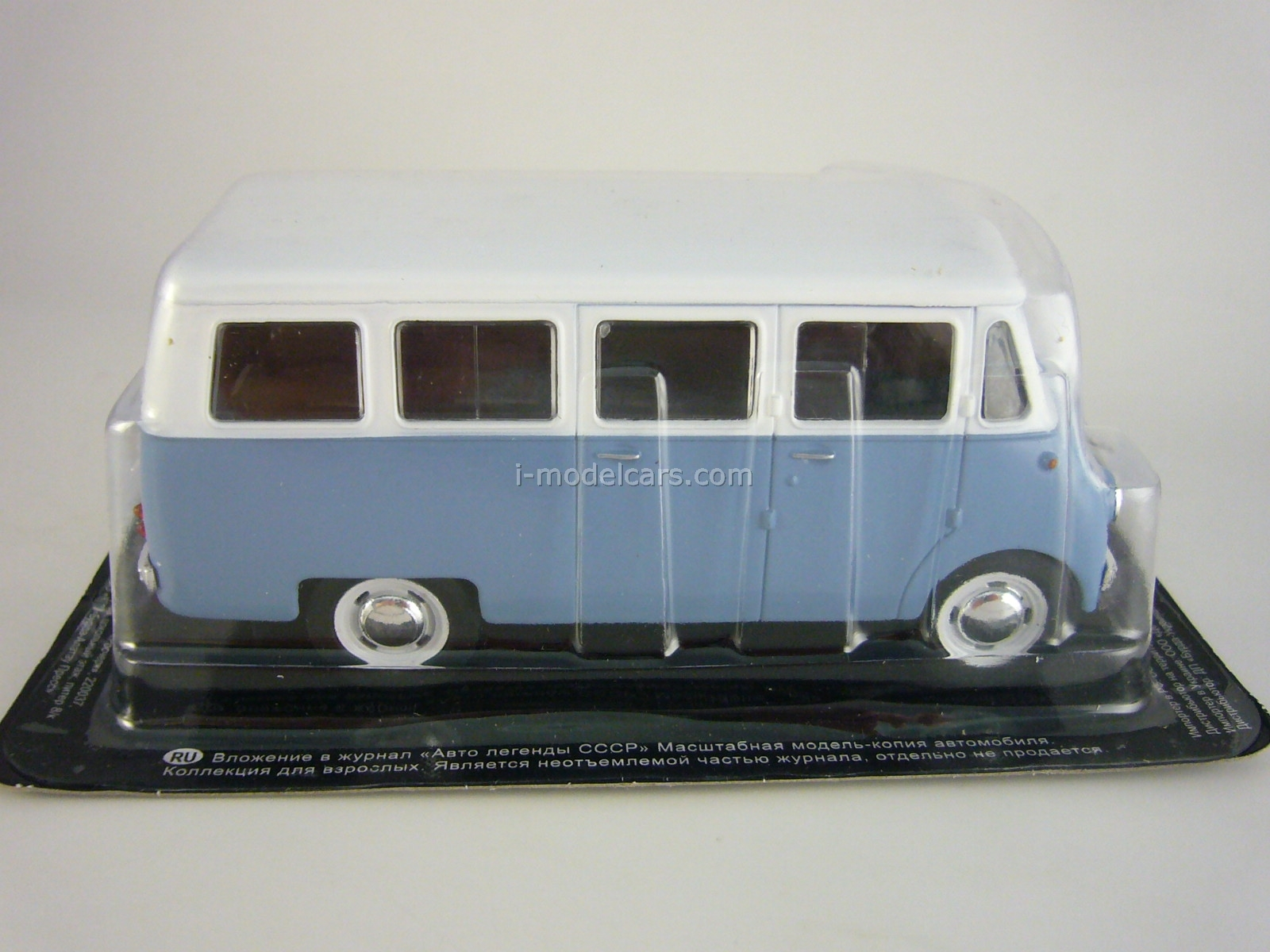 Nysa N59 white-blue 1:43 DeAgostini Auto Legends USSR #159