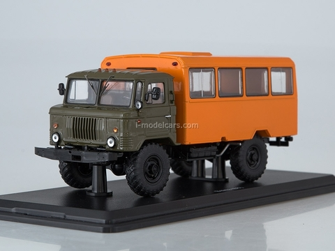 GAZ-66 shift work bus khaki-orange 1:43 Start Scale Models (SSM)