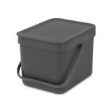 Встраиваемое мусорное ведро Sort & Go (6 л), Серый, артикул 109720, производитель - Brabantia