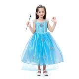 Сверкающее платье Эльзы + подарок Диадема и Волшебная палочка