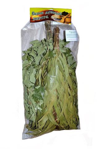 Веник - дуб ЭКСТРА + веник эвкалиптовый в инд. упаковке
