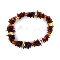 Плетёный браслет из янтаря