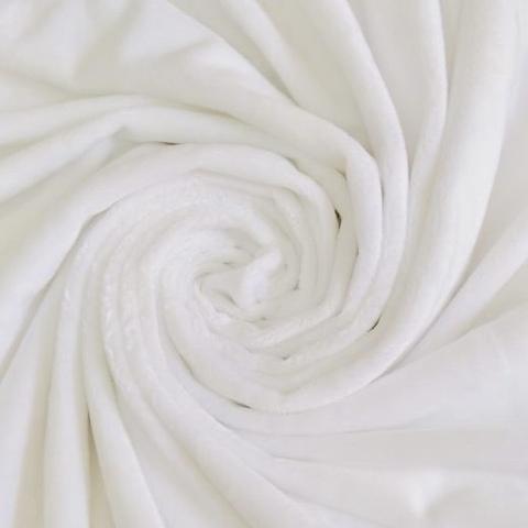 Плюш односторонний белый (отрез 105х160) см