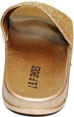 Шлепанцы на лето J.B.P. Shoes NU25 Gold.