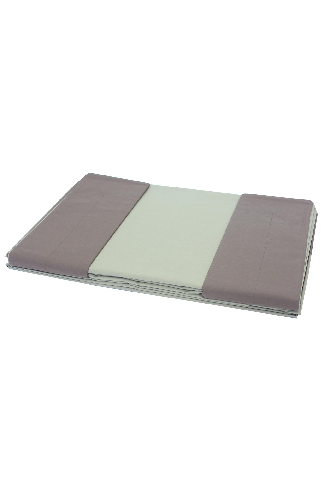 Постельное Постельное белье 2 спальное евро Caleffi Bicolor коричневое postelnoe-belie-caleffi-bicolor-dauble-marrone-italiya.JPG