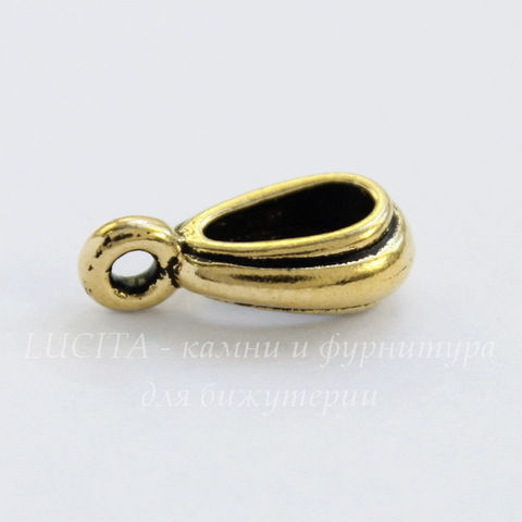 """Бейл TierraCast """"Nouveau"""" 13х4 мм (цвет-античное золото)"""