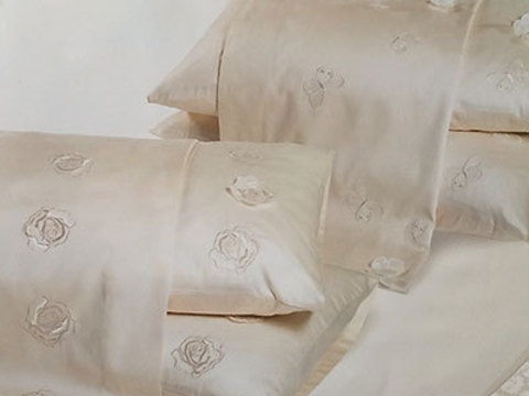 Постельное белье 2 спальное евро Caleffi Roseto с вышивкой