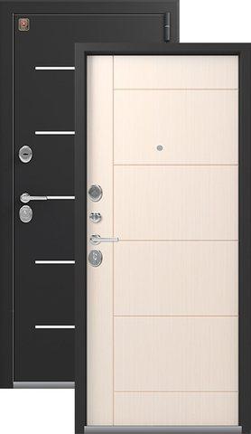 Тёплая дверь входная Легион L-2, 2 замка, 1,5 мм  металл, (чёрный шёлк+каньон)