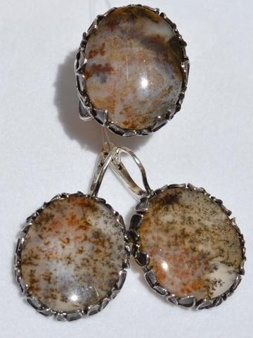 Гранада (кольцо + серьги из серебра)