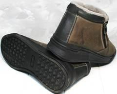 Модные мужские ботинки зима Rifellini Rovigo 046 Brown Black