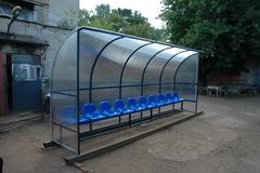Скамья для запасных (на 10 мест).