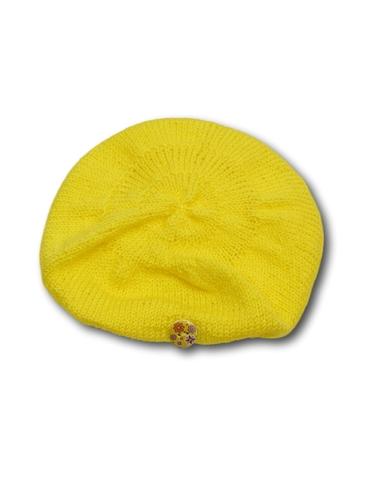 Вязаный берет - Желтый. Одежда для кукол, пупсов и мягких игрушек.