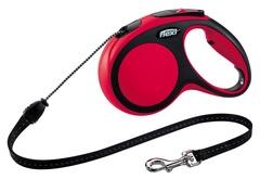 Поводок-рулетка Flexi New Comfort М (до 20 кг) трос 5 м черный/красный