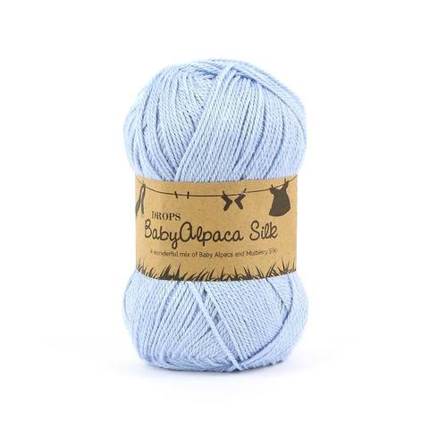 Пряжа Drops Baby Alpaca Silk 8112 нежно-голубой