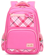 Рюкзак школьный Qix 456 Розовый + Пенал