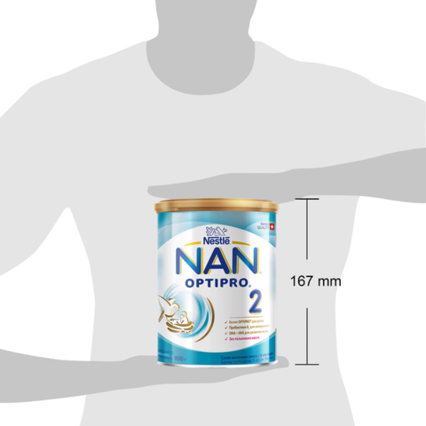 """Детская молочная смесь """"NAN 2"""" (с 6 до 12 месяцев) 800 г"""