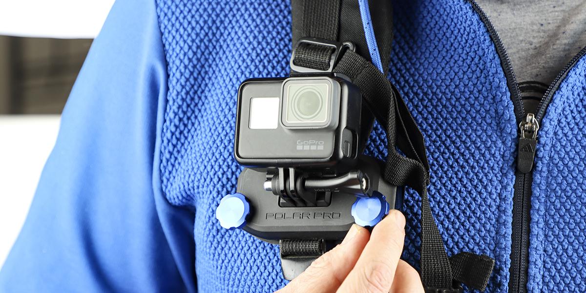 Крепление на стропы PolarPro Strap Mount на лямке рюкзака