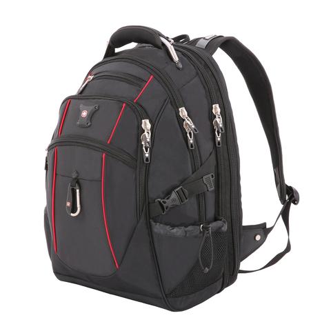 """Рюкзак вместительный Swissgear 15"""" чёрный/красный"""