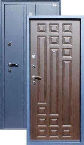 Дверь входная Тура стальная, орех рифлёный, 2 замка, фабрика Город Мастеров