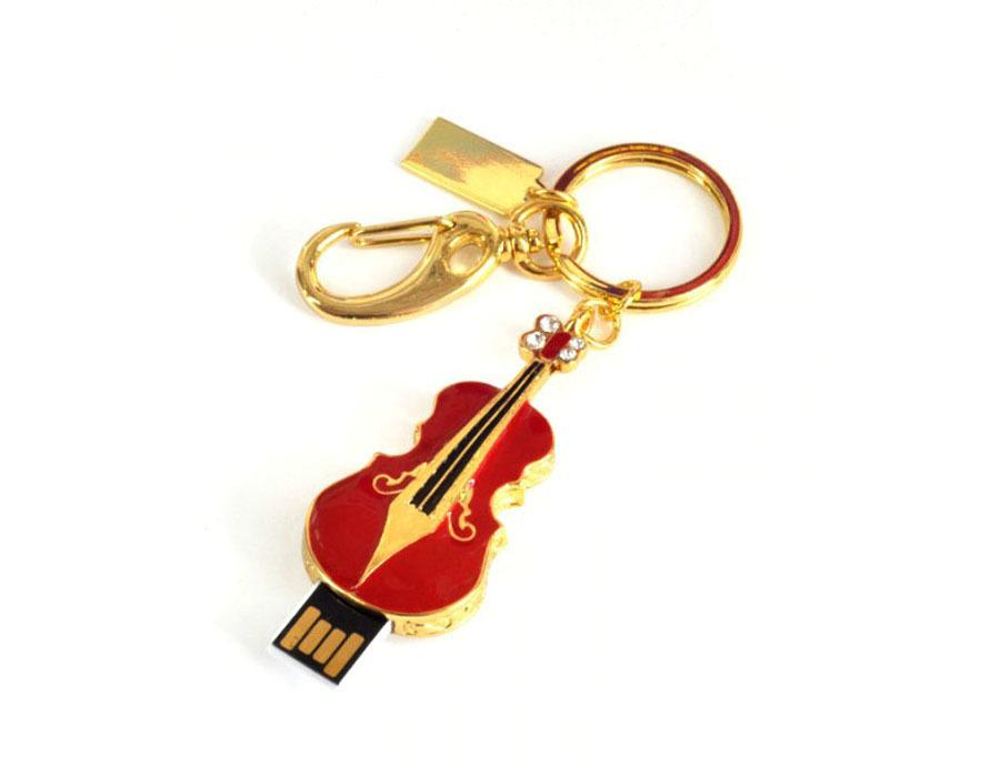 usb-флешка скрипка дизайнерская красная