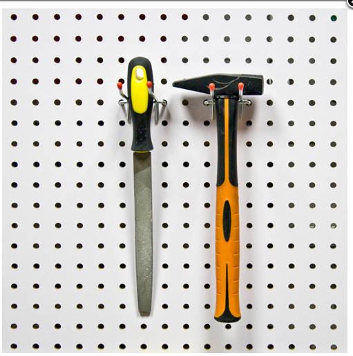 Двойные крючки на перфопанель (2 шт.) L 100мм Ø 3мм. PH812
