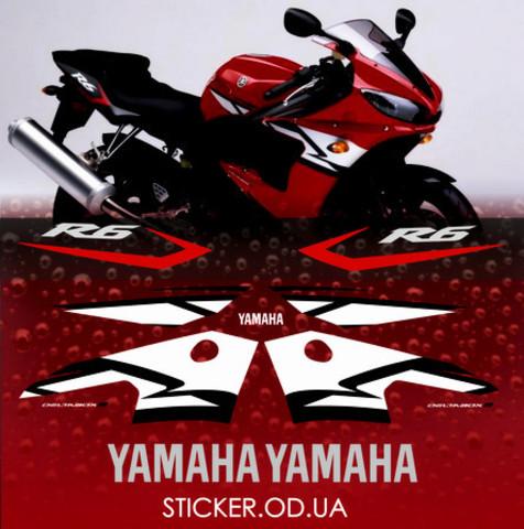 Набор виниловых наклеек на мотоцикл YAMAHA YZF-R6 2004