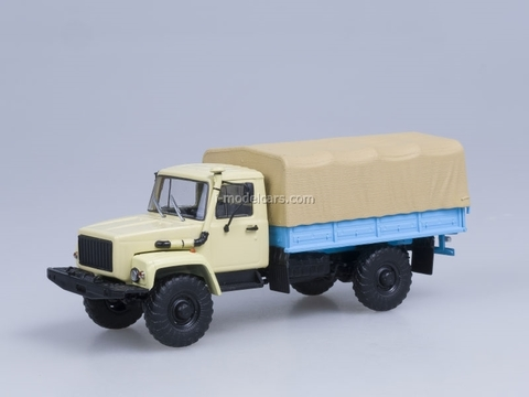 GAZ-33081 with awning 4x4 engine D-245.7 Diesel Turbo beige AutoHistory 1:43