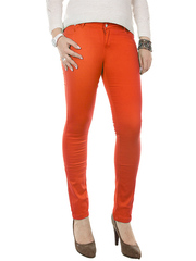128-10 джинсы женские, оранжевые