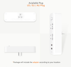 Разветвитель Xiaomi Mi Power Strip (2 розетки/2 USB) (белый)