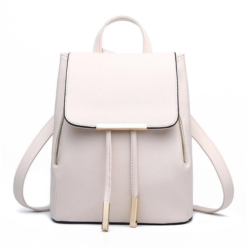 Женский средний рюкзак 24х29х15 см белый 3588-2