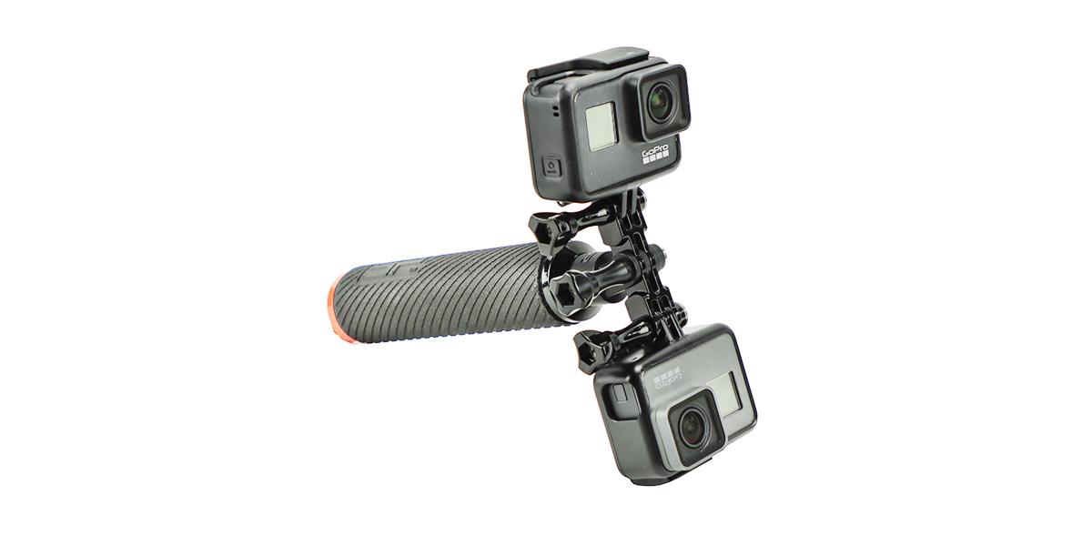 Крепление двойное SP Dual Mount с камерами горизонтально