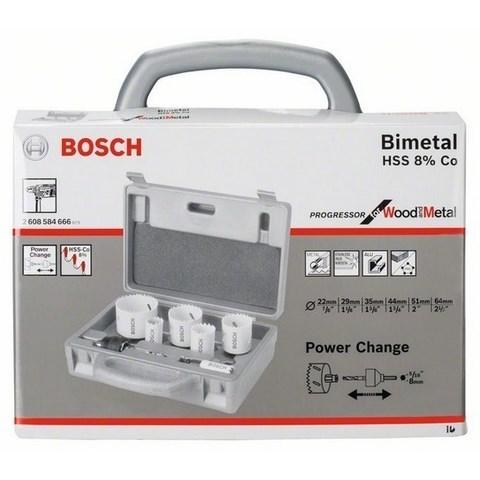 Набор из 6 коронок по металлу BOSCH Progressor биметаллические