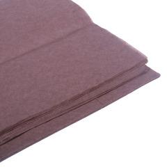 Бумага тишью, коричневая 76 Х 50 см, 10 листов 28 г/м