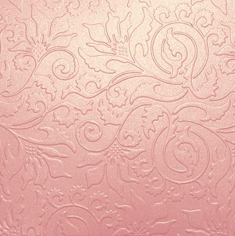 Бумага с тиснением Орнамент, розовый