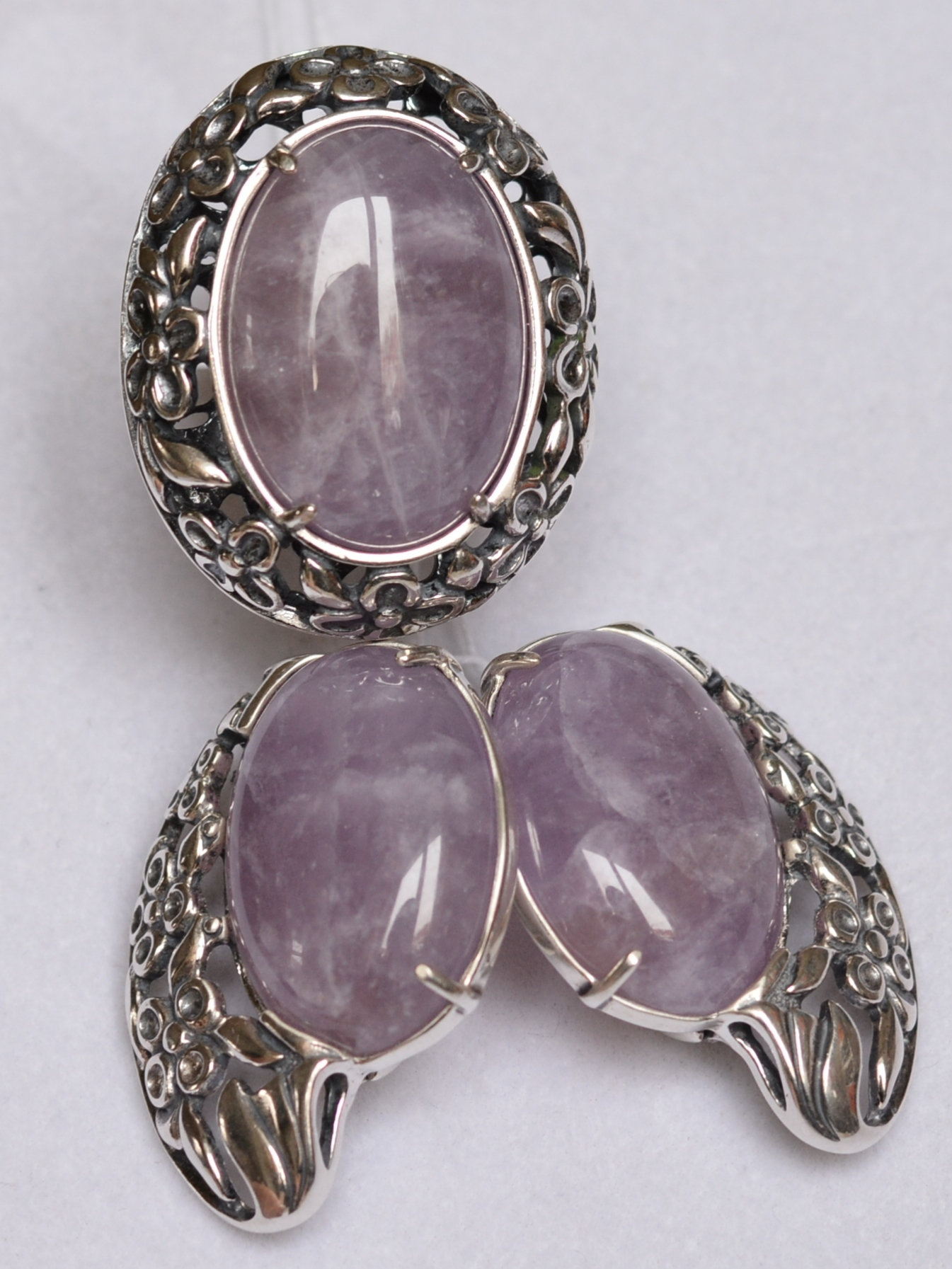 Кассандра  (кольцо + серьги из серебра)