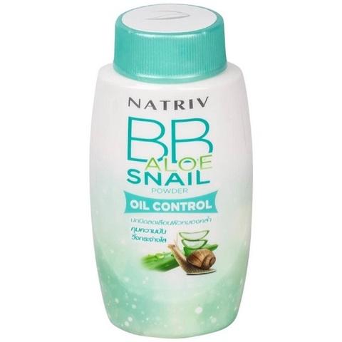 Матирующая ВВ-пудра Natriv для жирной кожи с алое и улиточной слизью, BB Aloe Snail Powder, 40 гр